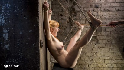 Photo number 11 from Red Headed Rope Slut is Violated and Tormented shot for Hogtied on Kink.com. Featuring Penny Pax and The Pope in hardcore BDSM & Fetish porn.