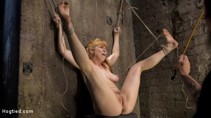 Photo number 13 from Red Headed Rope Slut is Violated and Tormented shot for Hogtied on Kink.com. Featuring Penny Pax and The Pope in hardcore BDSM & Fetish porn.