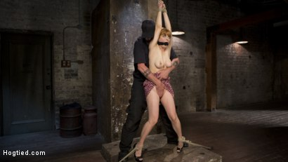 Photo number 14 from Red Headed Rope Slut is Violated and Tormented shot for Hogtied on Kink.com. Featuring Penny Pax and The Pope in hardcore BDSM & Fetish porn.