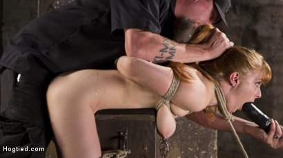 Photo number 3 from Red Headed Rope Slut is Violated and Tormented shot for Hogtied on Kink.com. Featuring Penny Pax and The Pope in hardcore BDSM & Fetish porn.
