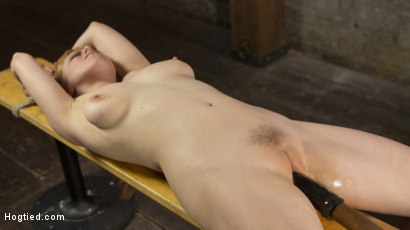 Photo number 8 from Red Headed Rope Slut is Violated and Tormented shot for Hogtied on Kink.com. Featuring Penny Pax and The Pope in hardcore BDSM & Fetish porn.
