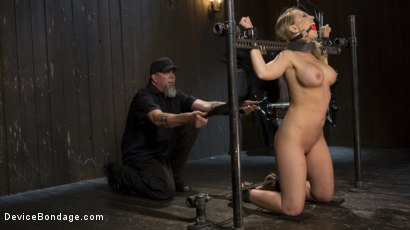 Photo number 2 from Making of a Masochist   shot for Device Bondage on Kink.com. Featuring Kagney Linn Karter and The Pope in hardcore BDSM & Fetish porn.