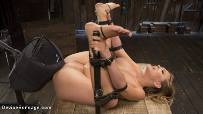 Photo number 11 from Making of a Masochist   shot for Device Bondage on Kink.com. Featuring Kagney Linn Karter and The Pope in hardcore BDSM & Fetish porn.