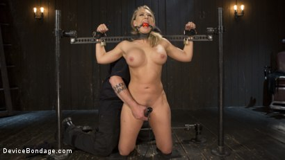 Photo number 13 from Making of a Masochist   shot for Device Bondage on Kink.com. Featuring Kagney Linn Karter and The Pope in hardcore BDSM & Fetish porn.