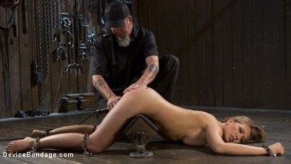 Photo number 4 from Making of a Masochist   shot for Device Bondage on Kink.com. Featuring Kagney Linn Karter and The Pope in hardcore BDSM & Fetish porn.