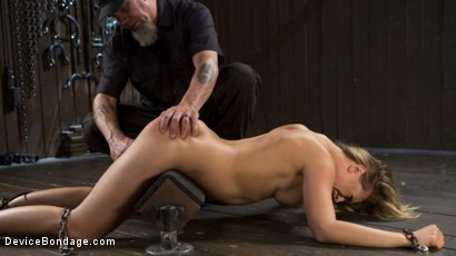 Photo number 8 from Making of a Masochist   shot for Device Bondage on Kink.com. Featuring Kagney Linn Karter and The Pope in hardcore BDSM & Fetish porn.