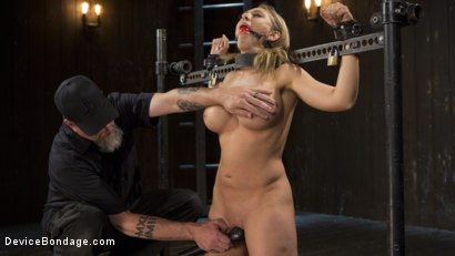 Photo number 9 from Making of a Masochist   shot for Device Bondage on Kink.com. Featuring Kagney Linn Karter and The Pope in hardcore BDSM & Fetish porn.