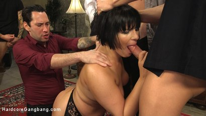 Photo number 12 from Agent Airtight: Slutty Fed Takes Five Hard Cocks In All Her Holes  shot for Hardcore Gangbang on Kink.com. Featuring Mark Wood, Tommy Pistol, Xander Corvus, Small Hands, Rose Rhapsody and Gage Sin in hardcore BDSM & Fetish porn.