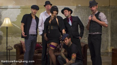 Photo number 14 from Agent Airtight: Slutty Fed Takes Five Hard Cocks In All Her Holes  shot for Hardcore Gangbang on Kink.com. Featuring Mark Wood, Tommy Pistol, Xander Corvus, Small Hands, Rose Rhapsody and Gage Sin in hardcore BDSM & Fetish porn.