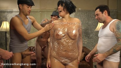 Photo number 4 from Agent Airtight: Slutty Fed Takes Five Hard Cocks In All Her Holes  shot for Hardcore Gangbang on Kink.com. Featuring Mark Wood, Tommy Pistol, Xander Corvus, Small Hands, Rose Rhapsody and Gage Sin in hardcore BDSM & Fetish porn.