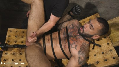Photo number 14 from Leather Hunk Edged in Chains shot for Men On Edge on Kink.com. Featuring Rikk York in hardcore BDSM & Fetish porn.