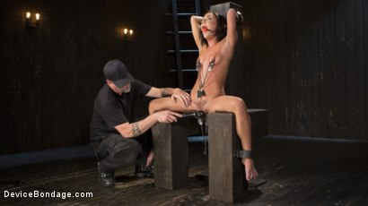 Photo number 2 from Fresh Meat - Amara Romani is Dominated in Inescapable Bondage  shot for Device Bondage on Kink.com. Featuring Amara Romani and The Pope in hardcore BDSM & Fetish porn.