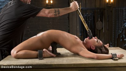 Photo number 3 from Fresh Meat - Amara Romani is Dominated in Inescapable Bondage  shot for Device Bondage on Kink.com. Featuring Amara Romani and The Pope in hardcore BDSM & Fetish porn.