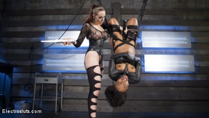 Photo number 5 from Shock the System: Sexual deviant bound & lesbian electrosexed! shot for Electro Sluts on Kink.com. Featuring Chanel Preston and Chanell Heart in hardcore BDSM & Fetish porn.