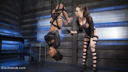 Photo number 2 from Shock the System: Sexual deviant bound & lesbian electrosexed! shot for Electro Sluts on Kink.com. Featuring Chanel Preston and Chanell Heart in hardcore BDSM & Fetish porn.