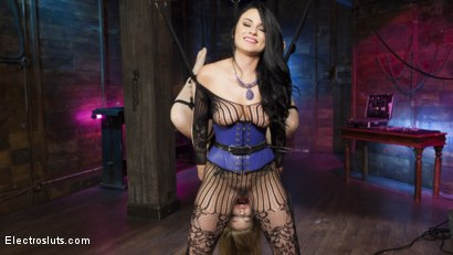 Photo number 6 from Birthday Girl: Electric spankings, fucking, & tons of pussy licking! shot for Electro Sluts on Kink.com. Featuring Dolly Leigh and Veruca James in hardcore BDSM & Fetish porn.