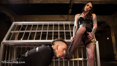 Photo number 15 from Yes, Mistress: Devoted slave worships hot dominatrix cock! shot for TS Seduction on Kink.com. Featuring Chelsea Marie and Ruckus in hardcore BDSM & Fetish porn.