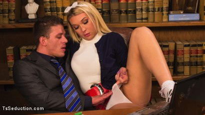 Photo number 1 from Blackmailed: Suck That Cock Good or I'll Tell My Daddy! shot for TS Seduction on Kink.com. Featuring Aubrey Kate and Alexander Gustavo in hardcore BDSM & Fetish porn.