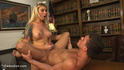 Photo number 16 from Blackmailed: Suck That Cock Good or I'll Tell My Daddy! shot for TS Seduction on Kink.com. Featuring Aubrey Kate and Alexander Gustavo in hardcore BDSM & Fetish porn.