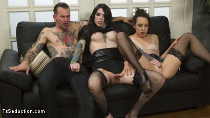 Photo number 20 from Hot, Slutty TS Lady Barges into Sex Shop to Fuck and Suck the Staff! shot for TS Seduction on Kink.com. Featuring Chelsea Marie, Lilith Luxe and Will Havoc in hardcore BDSM & Fetish porn.