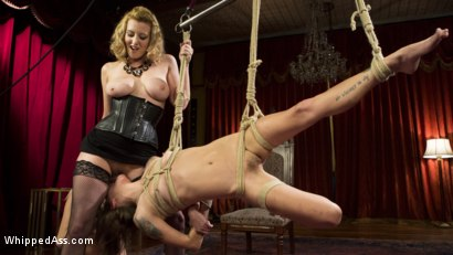 Photo number 4 from Date Night With a Dominatrix: Lesbian couple submits to Cherry Torn! shot for Whipped Ass on Kink.com. Featuring Kacie Castle, Cadence Lux and Cherry Torn in hardcore BDSM & Fetish porn.