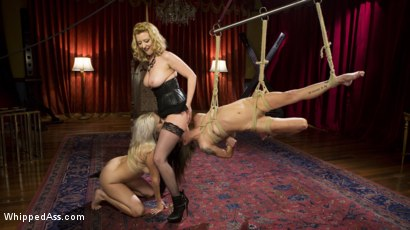 Photo number 10 from Date Night With a Dominatrix: Lesbian couple submits to Cherry Torn! shot for Whipped Ass on Kink.com. Featuring Kacie Castle, Cadence Lux and Cherry Torn in hardcore BDSM & Fetish porn.
