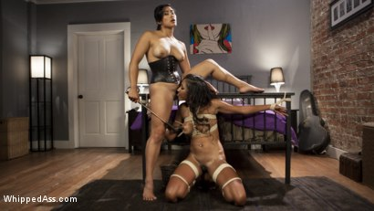 Photo number 5 from Noisy Neighbor: Conflict turned Kinky Lesbian Sex! shot for Whipped Ass on Kink.com. Featuring Sadie Santana and Mia Li in hardcore BDSM & Fetish porn.