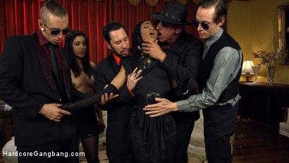 Photo number 18 from An Insatiable Hunger: Nikki Ravaged by Lust-Crazed Vampires! shot for Hardcore Gangbang on Kink.com. Featuring Nikki Darling, Gage Sin, John Johnson, Owen Gray, Tommy Pistol and Marco Banderas in hardcore BDSM & Fetish porn.