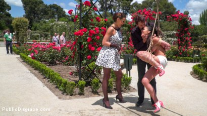 Photo number 1 from Rope Bondage Slut Loves to be Tied Up in Public shot for Public Disgrace on Kink.com. Featuring Steve Holmes, Antonio Ross, Carolina Abril and Tina Kay in hardcore BDSM & Fetish porn.