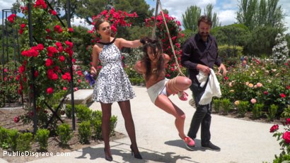 Photo number 2 from Rope Bondage Slut Loves to be Tied Up in Public shot for Public Disgrace on Kink.com. Featuring Steve Holmes, Antonio Ross, Carolina Abril and Tina Kay in hardcore BDSM & Fetish porn.