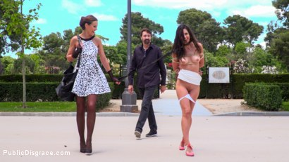 Photo number 6 from Rope Bondage Slut Loves to be Tied Up in Public shot for Public Disgrace on Kink.com. Featuring Steve Holmes, Antonio Ross, Carolina Abril and Tina Kay in hardcore BDSM & Fetish porn.
