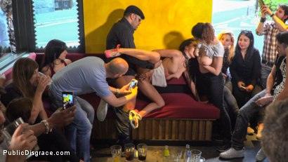 Photo number 1 from Public Slut Works the Crowd shot for Public Disgrace on Kink.com. Featuring Steve Holmes, Antonio Ross, Carolina Abril and Tina Kay in hardcore BDSM & Fetish porn.