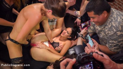 Photo number 12 from Public Slut Works the Crowd shot for Public Disgrace on Kink.com. Featuring Steve Holmes, Antonio Ross, Carolina Abril and Tina Kay in hardcore BDSM & Fetish porn.