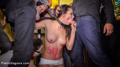 Photo number 8 from Public Slut Works the Crowd shot for Public Disgrace on Kink.com. Featuring Steve Holmes, Antonio Ross, Carolina Abril and Tina Kay in hardcore BDSM & Fetish porn.