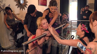 Photo number 13 from Gorgeous Anal Whore Gets Public DP!!! shot for Public Disgrace on Kink.com. Featuring Steve Holmes, Tina Kay, Antonio Ross and Daniela Dadivoso in hardcore BDSM & Fetish porn.