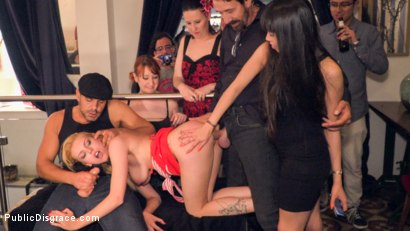 Photo number 22 from Gorgeous Anal Whore Gets Public DP!!! shot for Public Disgrace on Kink.com. Featuring Steve Holmes, Tina Kay, Antonio Ross and Daniela Dadivoso in hardcore BDSM & Fetish porn.