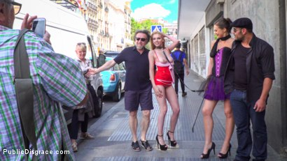 Photo number 8 from Gorgeous Anal Whore Gets Public DP!!! shot for Public Disgrace on Kink.com. Featuring Steve Holmes, Tina Kay, Antonio Ross and Daniela Dadivoso in hardcore BDSM & Fetish porn.