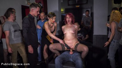 Photo number 18 from Pain Slut Rija Mae Fully Disgraced shot for Public Disgrace on Kink.com. Featuring Steve Holmes, Yasmin Scott, Kendo Ortiz and Rija Mae in hardcore BDSM & Fetish porn.