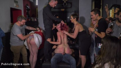 Photo number 20 from Pain Slut Rija Mae Fully Disgraced shot for Public Disgrace on Kink.com. Featuring Steve Holmes, Yasmin Scott, Kendo Ortiz and Rija Mae in hardcore BDSM & Fetish porn.
