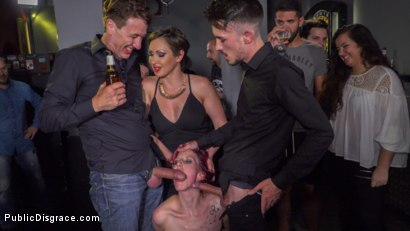 Photo number 21 from Pain Slut Rija Mae Fully Disgraced shot for Public Disgrace on Kink.com. Featuring Steve Holmes, Yasmin Scott, Kendo Ortiz and Rija Mae in hardcore BDSM & Fetish porn.