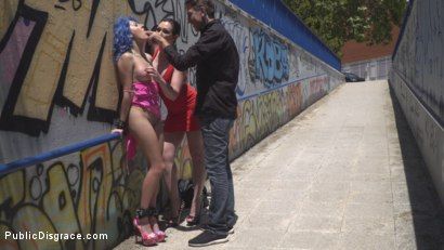 Photo number 11 from Cute and Colorful Susy Blue is Begging to be Disgraced in Public. shot for Public Disgrace on Kink.com. Featuring Steve Holmes, Kendo Ortiz, Yasmin Scott and Susy Blue in hardcore BDSM & Fetish porn.