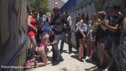 Photo number 16 from Cute and Colorful Susy Blue is Begging to be Disgraced in Public. shot for Public Disgrace on Kink.com. Featuring Steve Holmes, Kendo Ortiz, Yasmin Scott and Susy Blue in hardcore BDSM & Fetish porn.