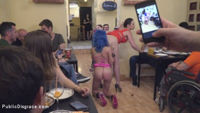 Photo number 20 from Cute and Colorful Susy Blue is Begging to be Disgraced in Public. shot for Public Disgrace on Kink.com. Featuring Steve Holmes, Kendo Ortiz, Yasmin Scott and Susy Blue in hardcore BDSM & Fetish porn.