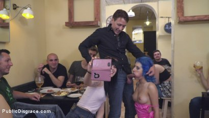 Photo number 22 from Cute and Colorful Susy Blue is Begging to be Disgraced in Public. shot for Public Disgrace on Kink.com. Featuring Steve Holmes, Kendo Ortiz, Yasmin Scott and Susy Blue in hardcore BDSM & Fetish porn.