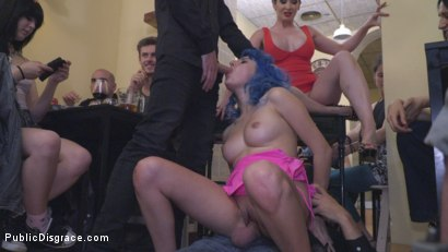 Photo number 30 from Cute and Colorful Susy Blue is Begging to be Disgraced in Public. shot for Public Disgrace on Kink.com. Featuring Steve Holmes, Kendo Ortiz, Yasmin Scott and Susy Blue in hardcore BDSM & Fetish porn.