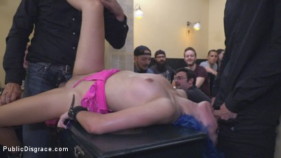 Photo number 33 from Cute and Colorful Susy Blue is Begging to be Disgraced in Public. shot for Public Disgrace on Kink.com. Featuring Steve Holmes, Kendo Ortiz, Yasmin Scott and Susy Blue in hardcore BDSM & Fetish porn.