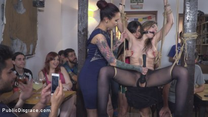 Photo number 12 from Demure Pain Slut Humiliated shot for Public Disgrace on Kink.com. Featuring Steve Holmes, Joel Tomas, Gemma Gomory and Silvia Rubi in hardcore BDSM & Fetish porn.