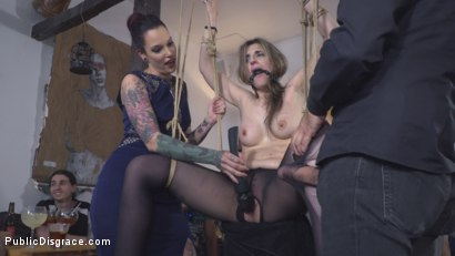 Photo number 13 from Demure Pain Slut Humiliated shot for Public Disgrace on Kink.com. Featuring Steve Holmes, Joel Tomas, Gemma Gomory and Silvia Rubi in hardcore BDSM & Fetish porn.