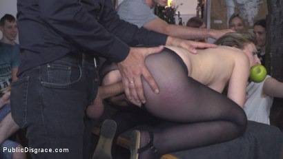 Photo number 16 from Demure Pain Slut Humiliated shot for Public Disgrace on Kink.com. Featuring Steve Holmes, Joel Tomas, Gemma Gomory and Silvia Rubi in hardcore BDSM & Fetish porn.