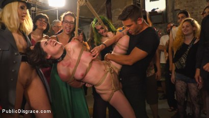 Photo number 14 from Pet Bitches Disgraced on Public Walk shot for Public Disgrace on Kink.com. Featuring Steve Holmes, Juan Lucho, Silvia Rubi, Lilith Optima, Ichi the Lorean  and Natalia Ruso in hardcore BDSM & Fetish porn.